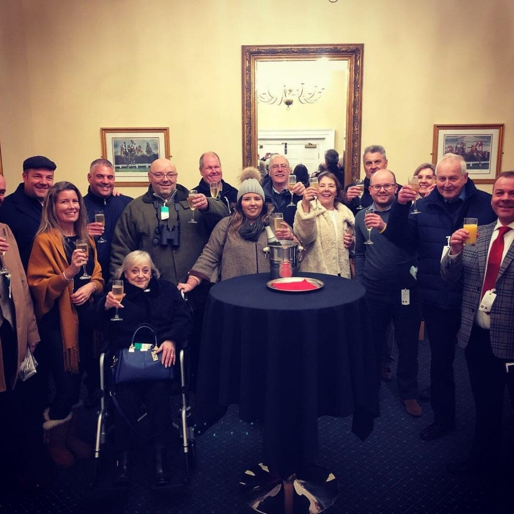 Titanium Racing members in the owners & trainers bar